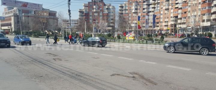 Operaţiune de reabilitare a șoselelor din orașul Năvodari