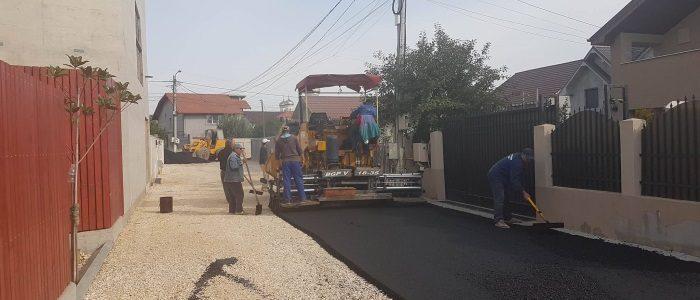 Lucrări de asfaltare la Năvodari