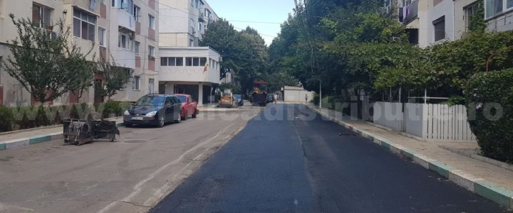 Asfaltare strada Meduzei (galerie foto)